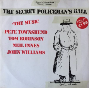 "V/A ‎- The Secret Policeman's Ball: The Music EP (12"") (VG-EX/VG+)"